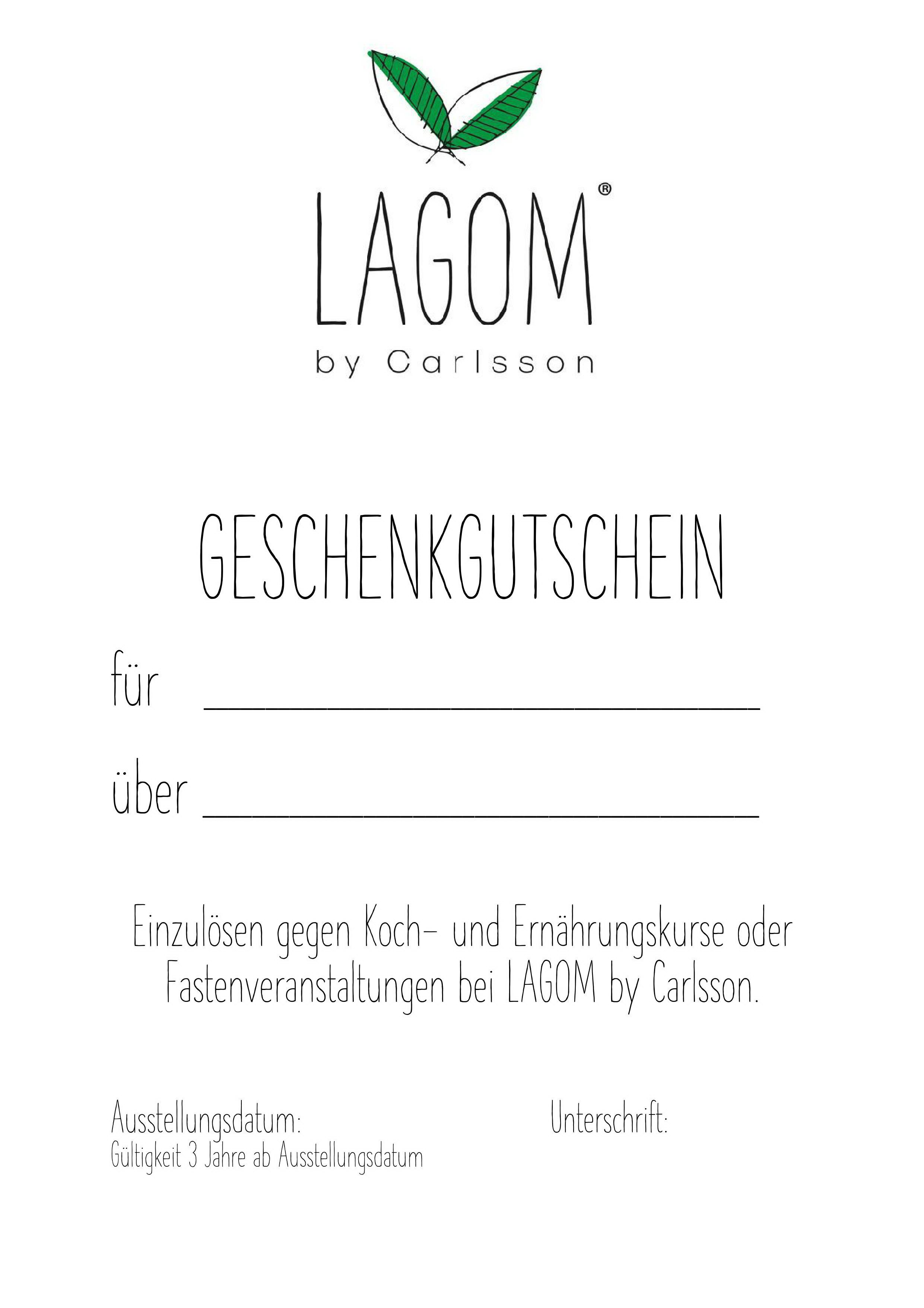 Geschenkgutscheine LAGOM by carlsson