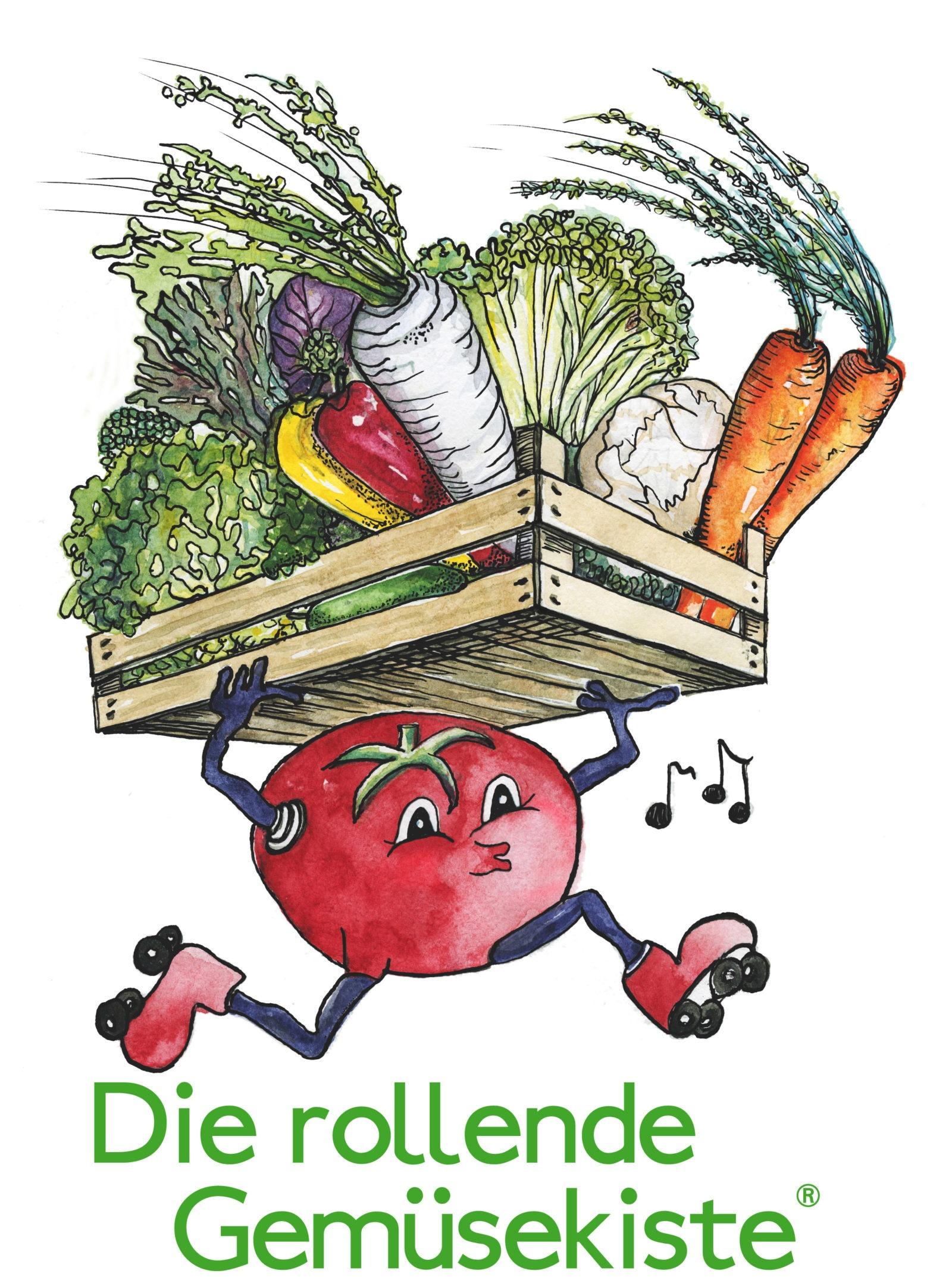 rollende Gemüsekiste